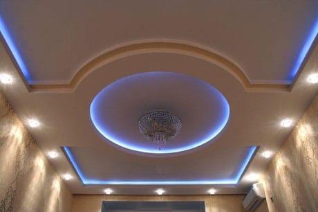 Потолок с комбинированной подсветкой