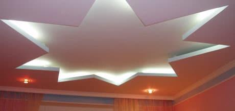 Оригинальный дизайн двухуровневого потолка