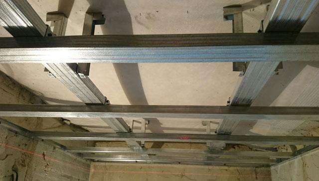 каркас под гипсокартон из металлопрофиля на потолок