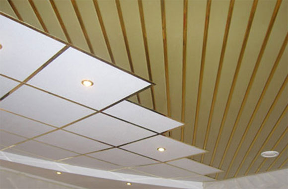 как собрать реечный потолок