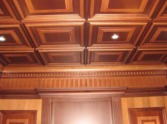 потолки из дерева под старину