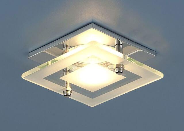 квадратные светодиодные светильники для натяжных потолков