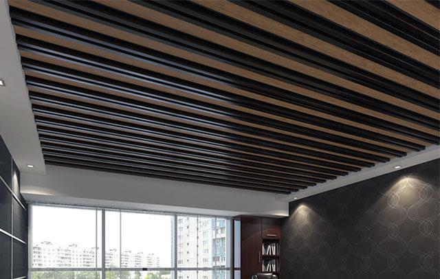 навесной реечный потолок