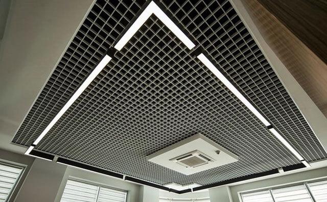 алюминиевая потолочная решетка