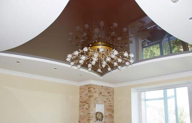 комбинированные потолки гипсокартон и натяжной