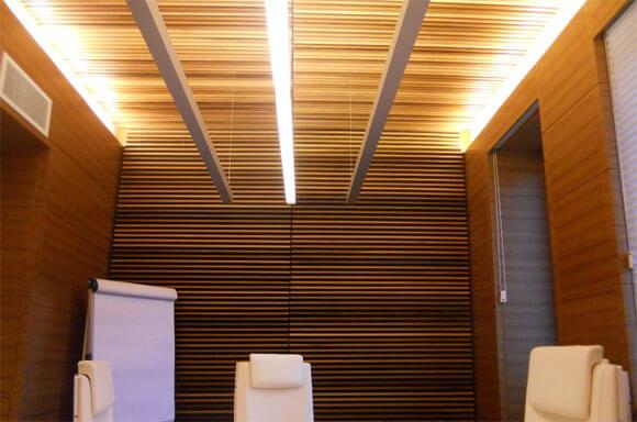 как сделать деревянный реечный потолок