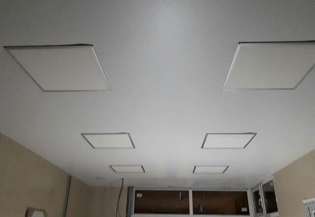 квадратные встраиваемые светильники для натяжных потолков