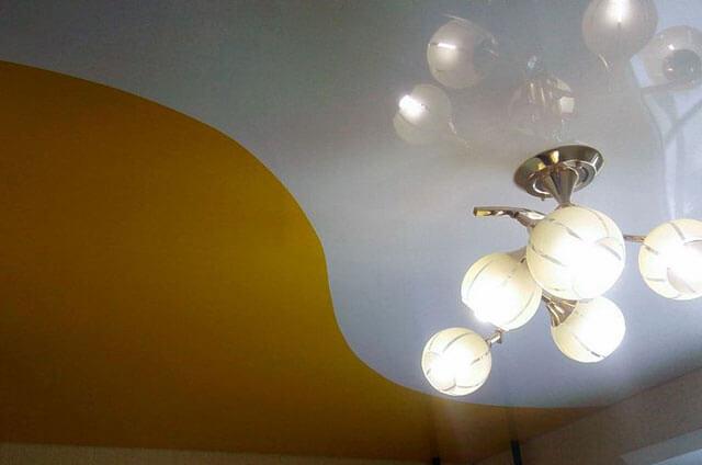 спаянный натяжной потолок