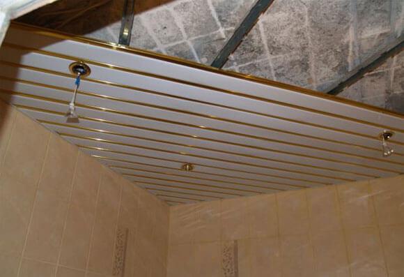 монтируем подвесной потолок
