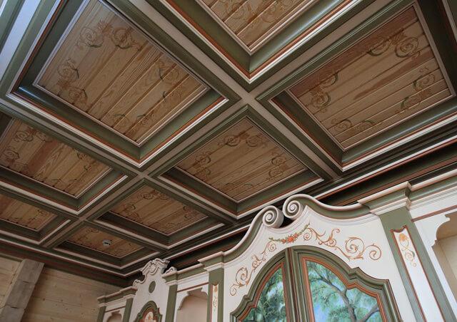 кессонированные потолки