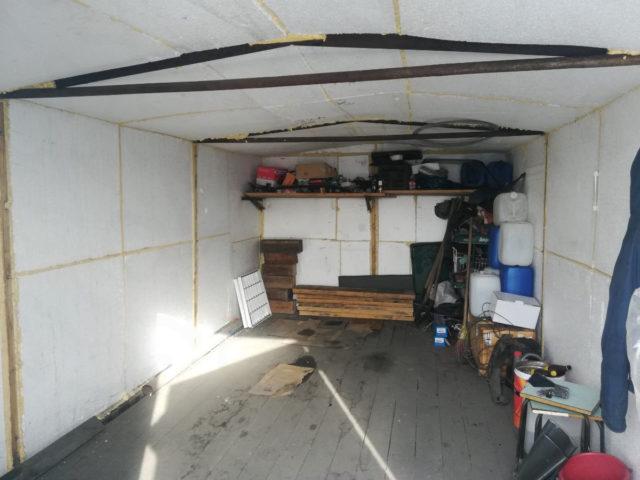 Полное утепление гаража пенопластом