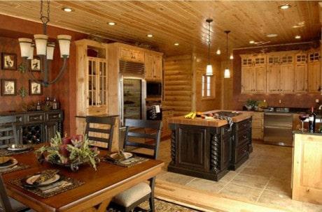 деревяные потолки