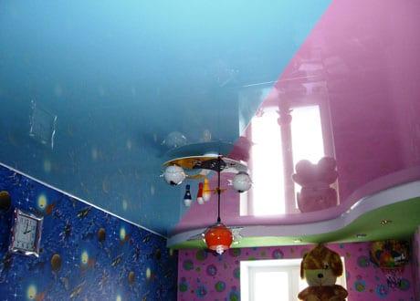 Натяжной потолок после очистки