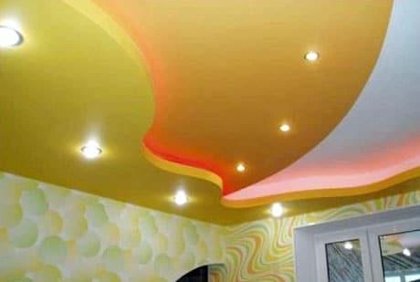 Окрашенный подвесной потолок
