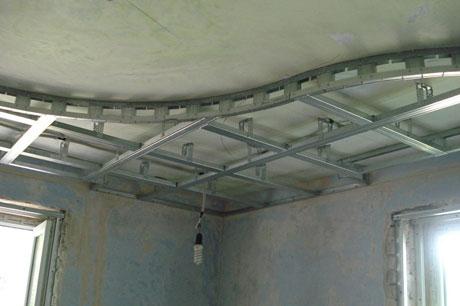 Каркас под двухуровневый потолок