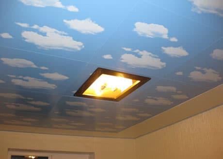 Кассетная конструкция на потолке