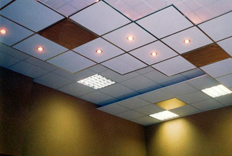 Светильники на кассетном потолке