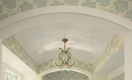 Арочный потолок из гипсокартона