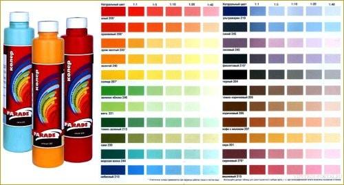 Выбор цвета