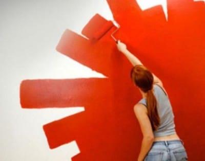 Окрашивание стены