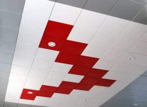 Цветной кассетный потолок