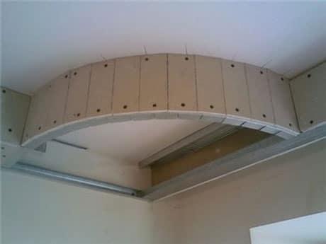 Фрагмент потолка из гипсокартона