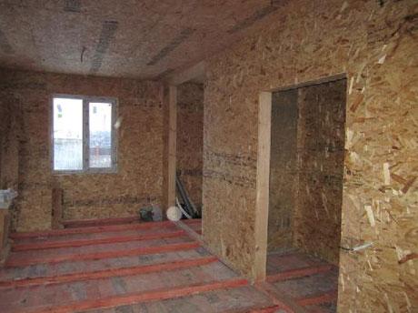 Отделка потолка и стен осб плитами