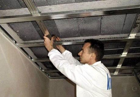Сборка каркаса для потолка