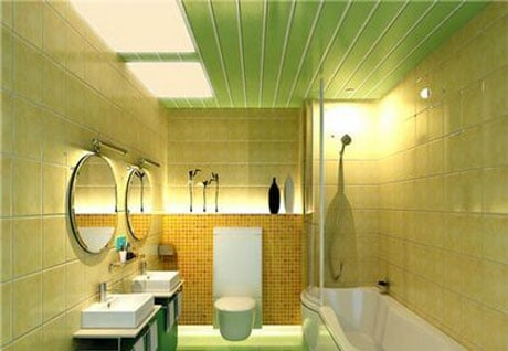 Панельный пластиковый потолок в ванной