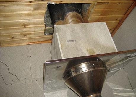 Металлический короб для дымохода