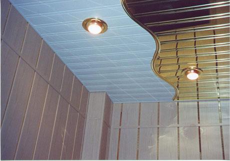 Декоративный реечный потолок