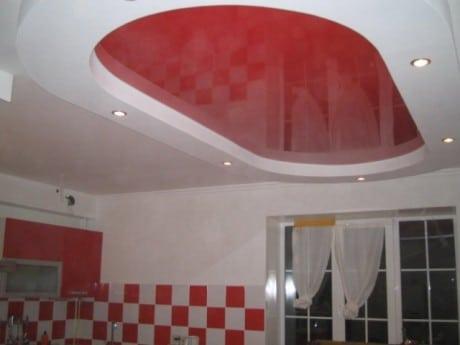 красный овал натяжного потолка