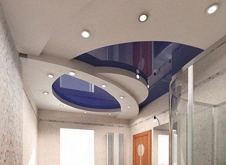 Натяжной и гипсокартонный потолок