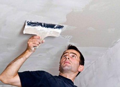 Выравнивание потолка шпатлевкой
