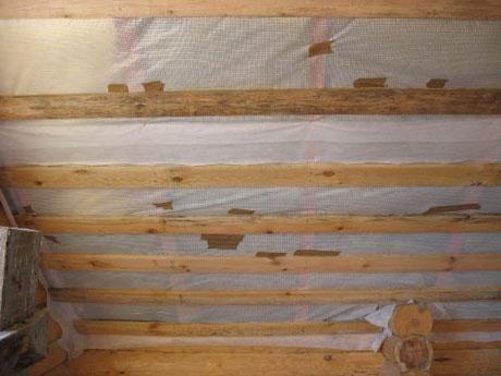 Пароизоляционная пленка на потолке