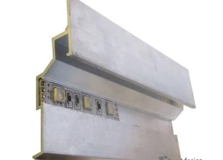 Конструкция профиля для парящего потолка
