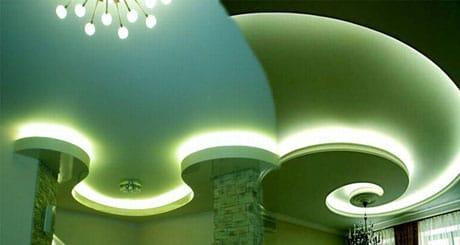 Креативный многоуровневый парящий потолок