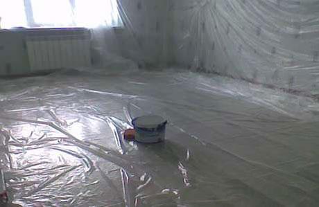 Подготовка комнаты к покраске