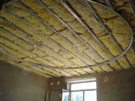 Изоляция потолка из гипсокартона