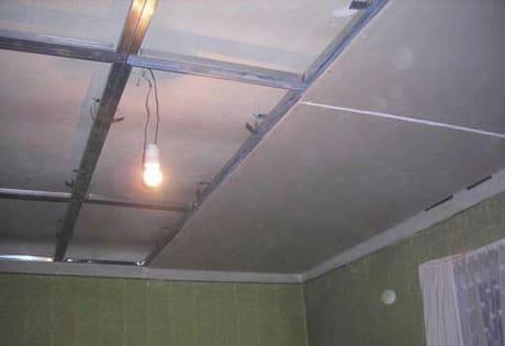 Установка гипсокартонового потолка