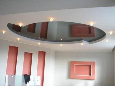 Комбинированный подвесной потолок