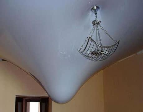 Прочность натяжного потолка при затоплении