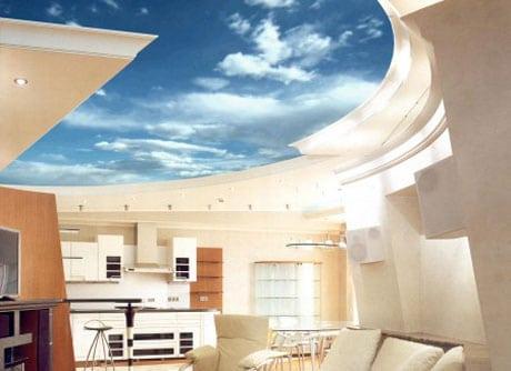 Подвесной потолок в высоком помещении