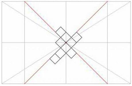 Наклейка по диагонали плитки