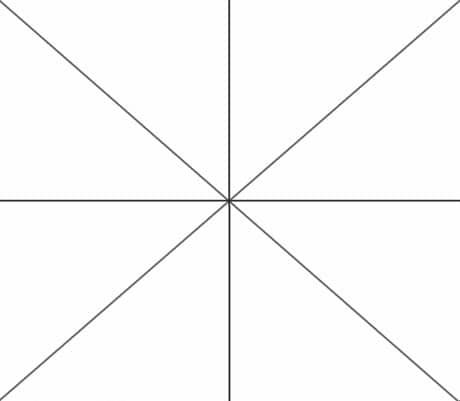 Определение центра потолка