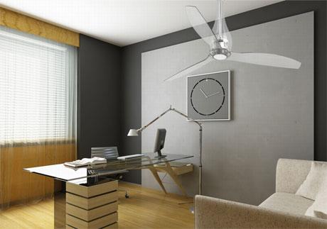 Люстра-вентилятор в офисе