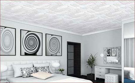 Потолочные плиты в спальне