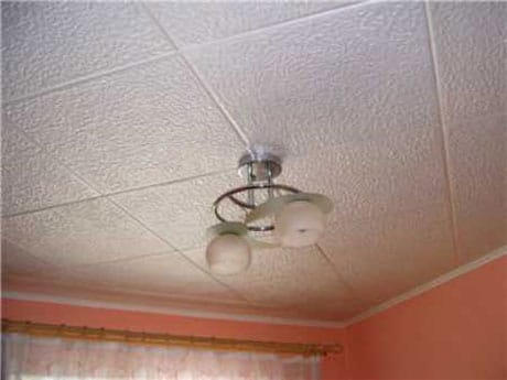 Штампованные потолочные плиты