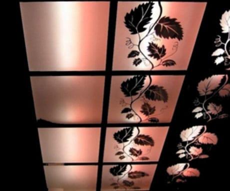 Потолочные плиты с подсветкой