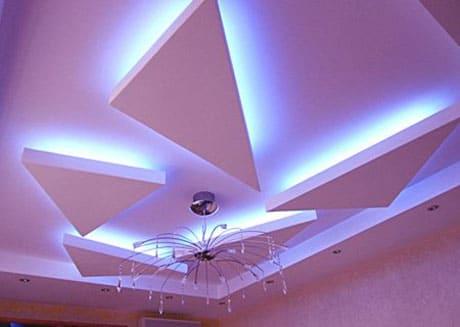 Простой многоуровневый потолок из гипсокартона